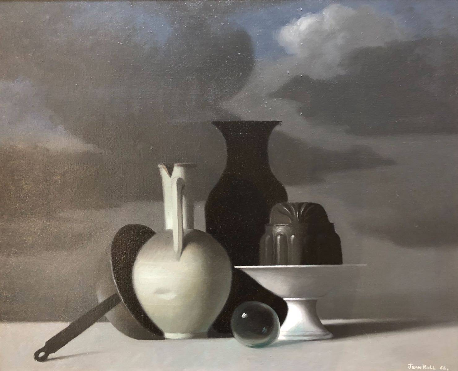 Jean ROLL (1921-2015) Nature morte en cuisine